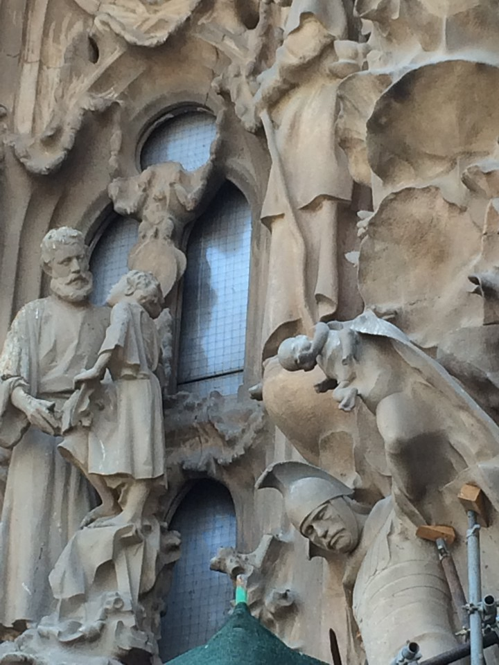 This World Heritage site is made up of different architectural styles, gothic, modernism, art nouveau. It's very organic and fluid. The Nativity facade depicted the early life of Jesus Christ.
