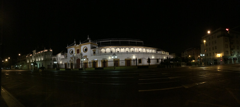 Plaza de Toros de la Real Maestranza de Caballería de Sevilla, the oldest bullring in the world. You haven't made it as a toreador until you fought a bull here.