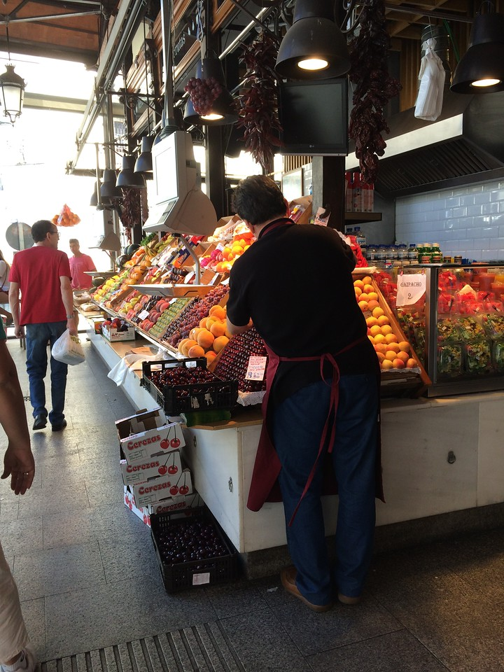 Fresh produce. Don't touch the fruit in Spanish markets.