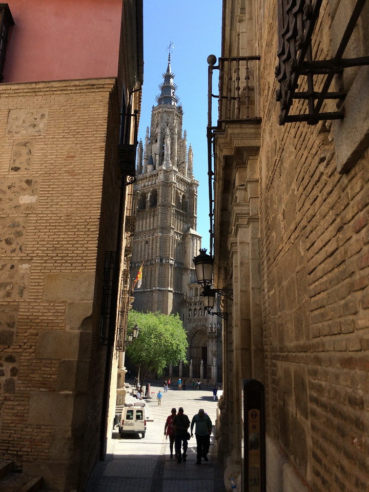 Our tour guide navigated us through narrow streets to find the Cathedral. It is the 4th largest Cathedral, the 3rd is in Seville.