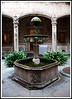 Barcelona - Fountain in the courtyard of the Deacon's House.