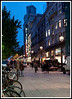 Barcelona - This is the street our hotel was on (Portal de L'Angel) just after sunset.