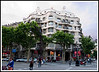 Barcelona - Gaudi's Casa Mila is typical of his Modernista architecture in Barcelona. This has its eves referred to as roller coasters of melting ice cream.