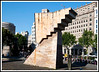 Barcelona - One of the monuments on Placa de Catalunya.