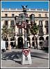 Barcelona - Gaudi's first public work ... Lamp Post in Placa Reial.