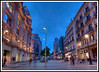Barcelona - This is a five frame HDR image of the street our hotel was on (Portal de L'Angel) just after sunset. The blurring of the people is the result of their movement during the time the five images were taken.