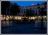 Barcelona - Placa Reial ... an elegant Neoclassical square near the Ramblas just after sunset.