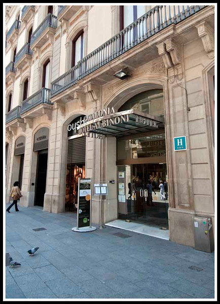 Barcelona - Hotel Catalonia Albinoni, our first hotel on the tour.