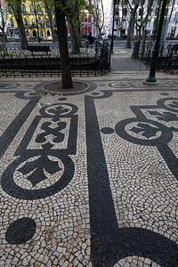 We began briefly in Lisbon with its ornate sidewalks and castle