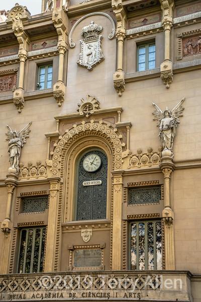 18th C Academia de Ciencies I Arts, La Ramblas, Barcelona, Spain