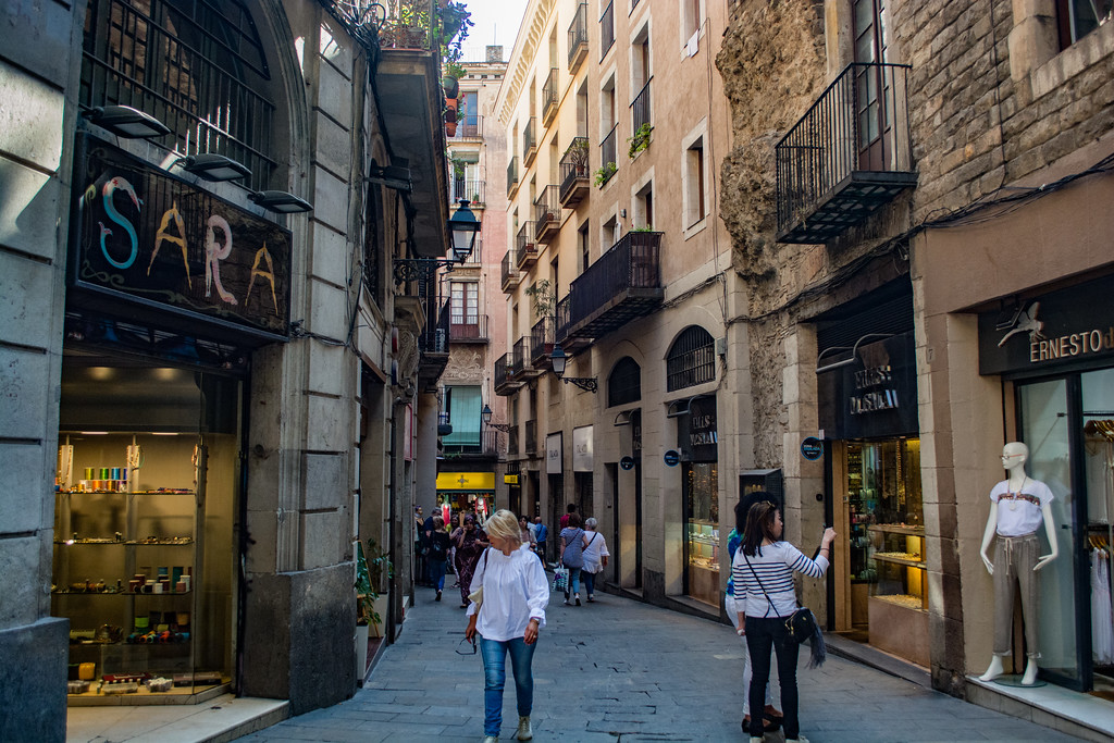 Barri Gotic Barcelona Spain Streets