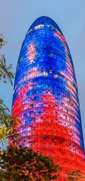 4,500 LED Lights at Torre Agbar