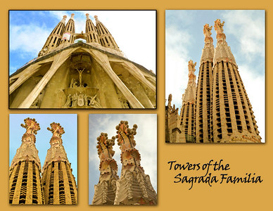 The Sagrada Familia - Work began on the church in 1883 and it is still under construction.