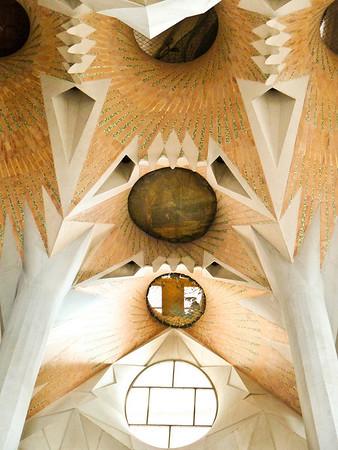The Sagrada Familia - Nave is still under construction.