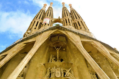 The Sagrada Familia - Passion Facade was completed in 2000.