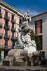 A monument of Fredrich Solar on La Rambla street in Barcelona, Spain.