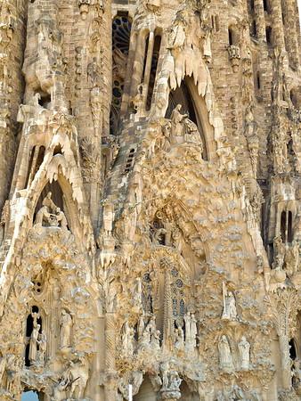 The Sagrada Familia - Nativity Facade was finished in 1930.