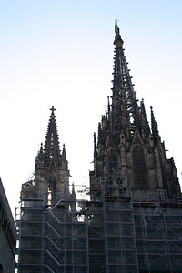 Barcelona Cathedral Facade, Under Renovation in December 2006