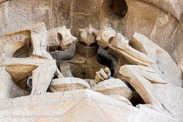 Soldiers playing dice, La Sagrada Família, Barcelona