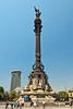 The Columbus Monument near the port of Barcelona, Spain.