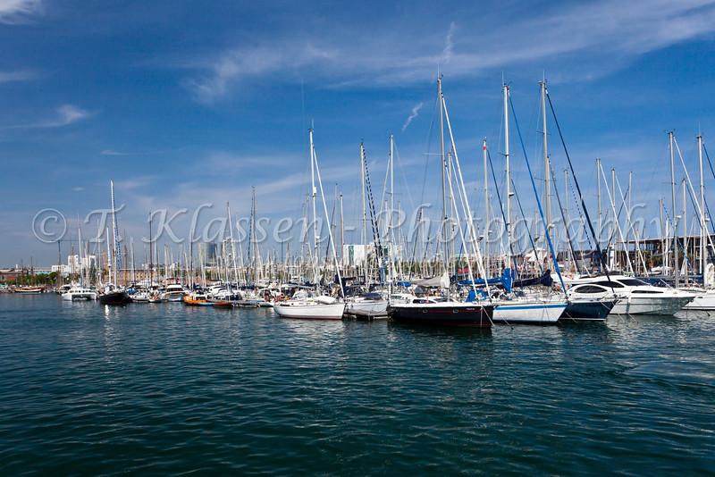 The marina at Barcelona, Spain.