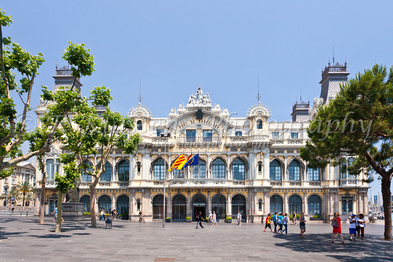 The Port of Barcelona, Spain.