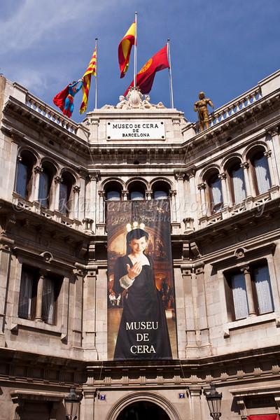 The Museu de Cera builidng in Barcelona, Spain.