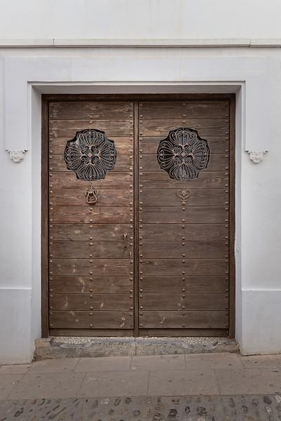 Door with Flower Ornaments