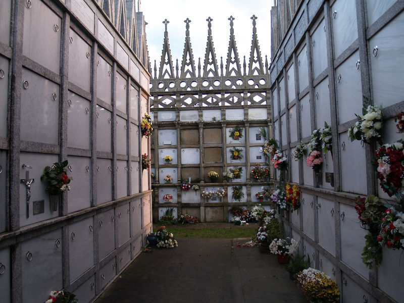 Cemetery in very small town in Galicia, Spain.