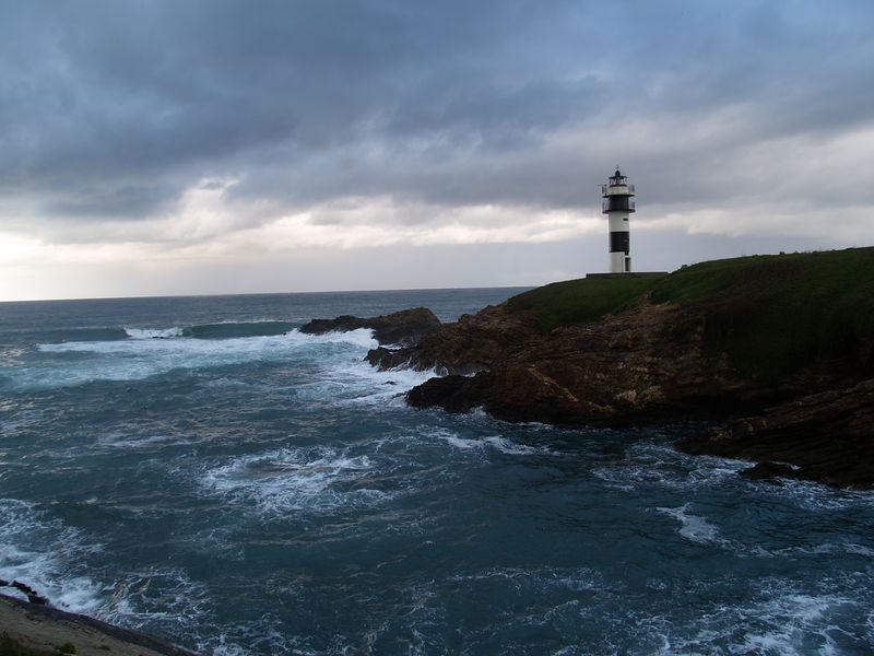 Lighthouse north of Ribadeo, Costa Verde, Northwest Spain.