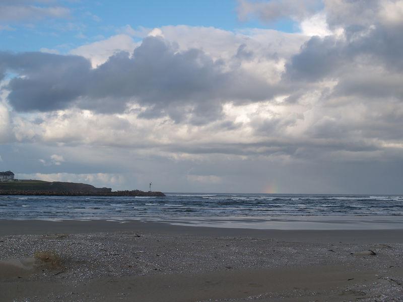 Beach at San Cosme, Costa Verde, Northwest Spain.