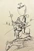 Salvador Dali sketch, Dali Museum, Girona, Spain