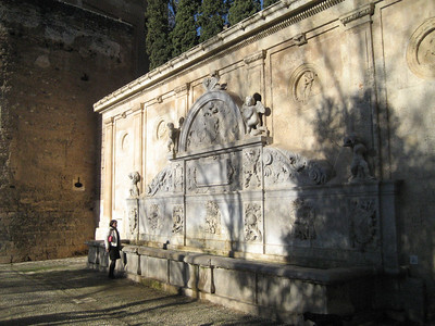 Fortifications and Fountains at the Gate of Justice, The Alhambra