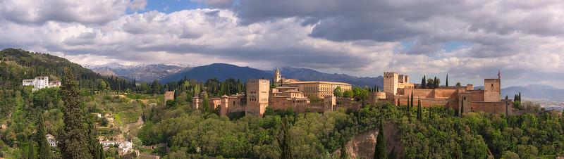 View on La Alhambra and Generalife from Mirador San Nicolas