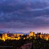Alhambra at dusk, Granada