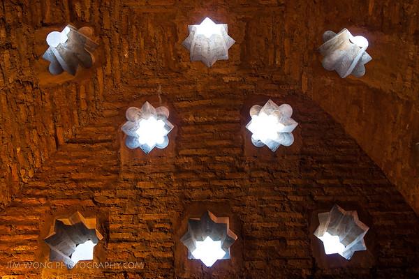 Ceiling detail, Alhambra, Granada