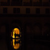 Reflecting pool at night, Alhambra, Granada