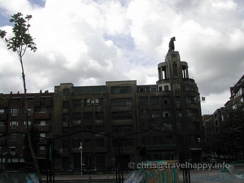 "Strange Deserted Building, Bilbao, Spain 2002 // See more of my travels at <a href=""http://travelhappy.info"">Travel Happy</a>"