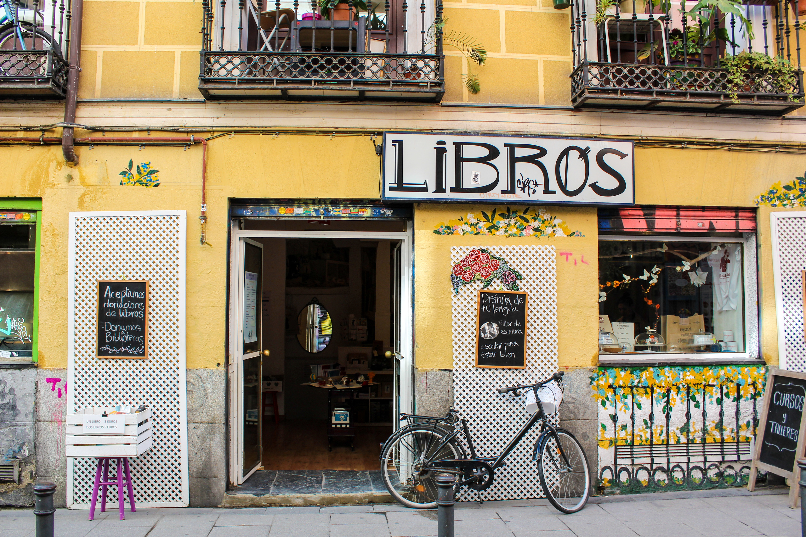 healing travel in spain is wonderful as you stumble upon bookstores