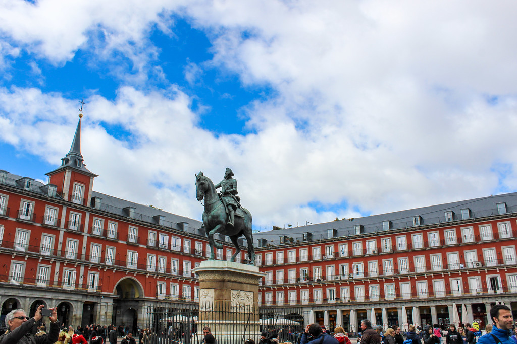 Solo Travel Madrid Tip: Go to Plaza Mayor Early