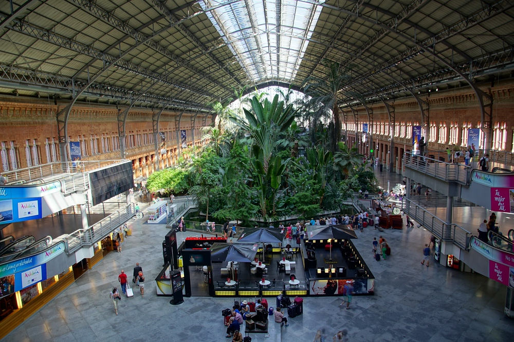 The train station in Madrid is a truly a spectacle. Certain sections appear more like a Botanical Garden than any kind of transportation hub.