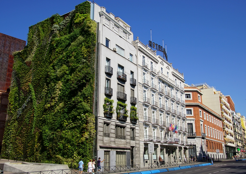 I've already raved about all of the green spaces in Madrid. Well, check out this wall!