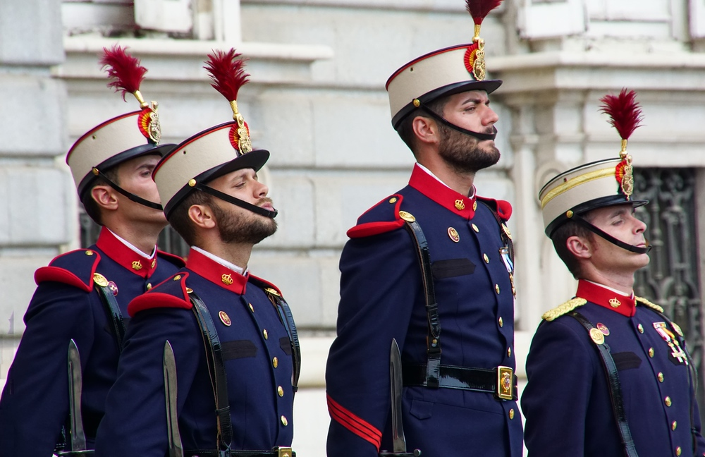Changing of the guard in Madrid, Spain