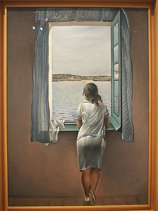 Salvador Dali, Girl at the Window, 1925
