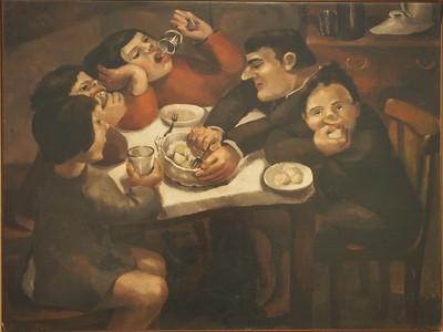 Angeles Santos, Family Dinner, 1930