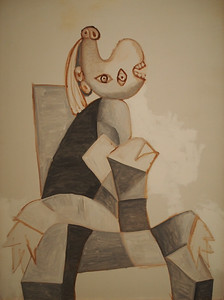 Pablo Picasso, Woman Sitting in a Grey Armchair, 1939