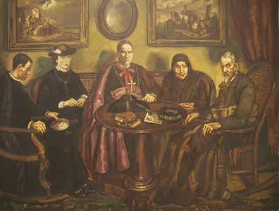 José Gutiérrez Solana, The Bishop's Visit, 1926