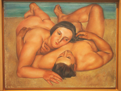 José de Togores, Nudes on the Beach, 1922