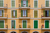Building architecture in Palma de Mallorca, Spain.