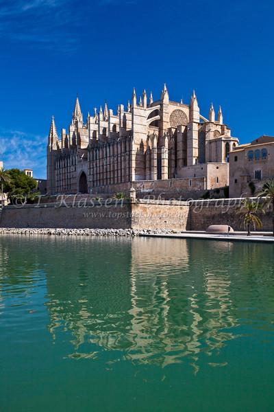 The Cathedral of Santa Maria of Palma in Palma de Mallorca, Spain.
